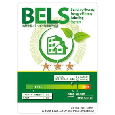 性能 国が定める建築物のエネルギー消費性能基準は最高クラスの★★★★★